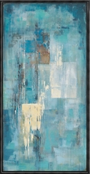 Indigo Wall Oil Painting, 92259
