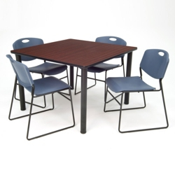 "Square Breakroom Table and Chair Set - 42"", 41683"