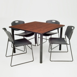 "Square Breakroom Table and Chair Set - 36"", 41684"