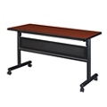 "Merit Flip Top Training Table with Casters and Modesty Panel - 48""W x 20""D, 220213"