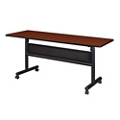 "Merit Flip Top Training Table with Casters and Modesty Panel - 60""W x 20""D, 220214"