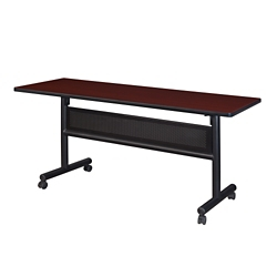 """Merit Flip Top Training Table with Casters and Modesty Panel - 60""""W x 24""""D, 41815"""