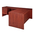 "Solutions Three-Quarter Pedestal L-Desk with Left Return - 71"" x 78"", 10250"