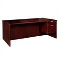"Solutions Right Pedestal Desk with Three Quarter Pedestal - 66""W, 13995"