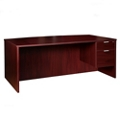 Solutions Right Pedestal Bowfront Desk with Three Quarter Modesty Panel , 14008