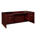 "Solutions Double Pedestal Desk - 71"" x 24"", 13413"