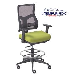 Tempur Pedic 174 By Raynor Group Companies Mesh Back Task Stool 56077
