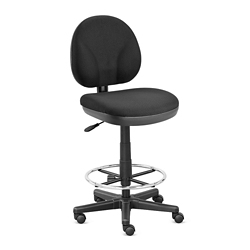 Armless Drafting Stool with Foot Ring - Hundreds of Colors Available, 56083
