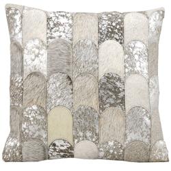 "kathy ireland by Nourison Metallic Hide Square Pillow - 20"" x 20"", 82267"