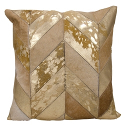 "kathy ireland by Nourison Metallic Chevron Square Pillow - 20"" x 20"", 82268"