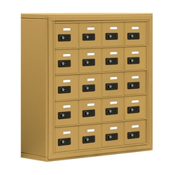"""30.5""""W x 31""""H 20 Compartment Cell Phone Locker with Combination Lock, 31056"""