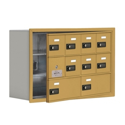 """30.5""""W x 20""""H 9 Door Cell Phone Locker with Combo Lock and Access Panel, 36465"""