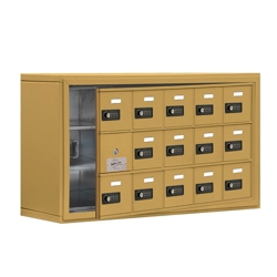 """37""""W x 20""""H 14 Door Cell Phone Locker with Combo Lock and Access Panel, 36466"""