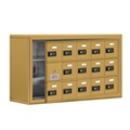 "37""W x 20""H 14 Door Cell Phone Locker with Combo Lock and Access Panel, 36466"