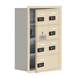 """17.5""""W x 25.5""""H 6 Door Cell Phone Locker with Combo Lock and Access Panel, 36467"""