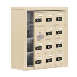 """24""""W x 25.5""""H 11 Door Cell Phone Locker with Combo Lock and Access Panel, 36468"""