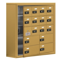 """30.5""""W x 31""""H 15 Door Cell Phone Locker with Combo Lock and Access Panel, 36474"""