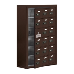 """24""""W x 36.5""""H 17 Door Cell Phone Locker with Combo Lock and Access Panel, 36478"""