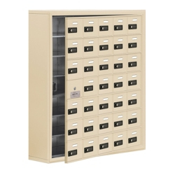 "37""W x 42""H 34 Door Cell Phone Locker with Combo Lock and Access Panel, 36484"