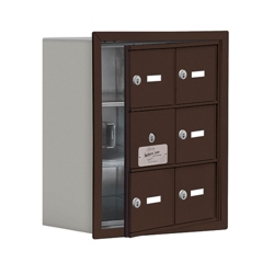 """17.5""""W x 20""""H 5 Door Cell Phone Locker with Key Lock and Access Panel, 36485"""