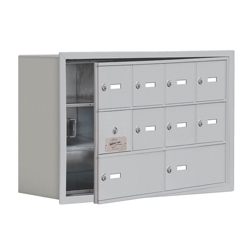"""30.5""""W x 20""""H 9 Door Cell Phone Locker with Key Lock and Access Panel, 36487"""