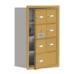 """17.5""""W x 25.5""""H 6 Door Cell Phone Locker with Key Lock and Access Panel, 36489"""