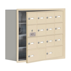 """30.5""""W x 25.5""""H 13 Door Cell Phone Locker with Key Lock and Access Panel, 36491"""