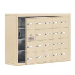 """37""""W x 25.5""""H 19 Door Cell Phone Locker with Key Lock and Access Panel, 36492"""
