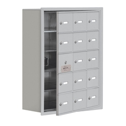 """24""""W x 31""""H 14 Door Cell Phone Locker with Key Lock and Access Panel, 36495"""