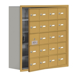"""30.5""""W x 31""""H 19 Door Cell Phone Locker with Key Lock and Access Panel, 36497"""