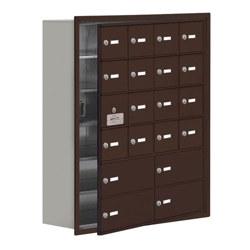 """30.5""""W x 36.5""""H 19 Door Cell Phone Locker with Key Lock and Access Panel, 36501"""