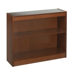 "30""H Two Shelf Square Edge Bookcase, 32116"