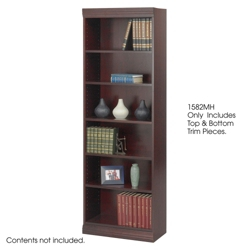 "24""W x 72""H Six Shelf Bookcase with Trim Kit, 32138"