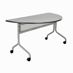 "Half-Round Mobile Training Table - 48"" x 24"", 41829"