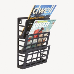 Three Pocket Grid Literature Display Rack, 36395