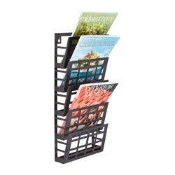 Five Pocket Grid Literature Display Rack, 36396