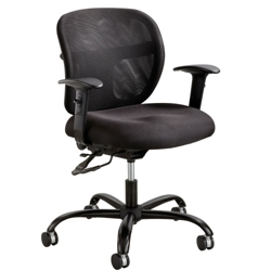 24/7 Big and Tall Mesh Back Ergonomic Task Chair with Arms, 56011