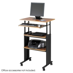 Adjustable Standing Height Computer Workstation with Casters, 60997