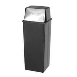 Push Top Trash Bin - 21 Gallon Capacity, 85257
