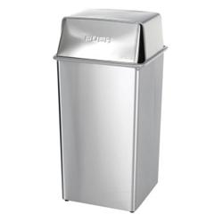Push Lid Trash Can - 36 Gallon Capacity, 85295