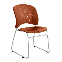 Plastic Wood Sled Base Guest Chair, 44667