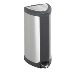 Stainless Steel Four Gallon Wastebasket, 91172