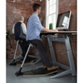 """60"""" Height Adjustable Desk & Leaning Perch Stool Set by Focal Upright, 16034"""