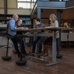 Conference Table and Perch Stool with Rubber Base Set by Focal Upright, 45088