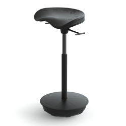 Perch Stool with Rubber Base by Focal Upright, 50936