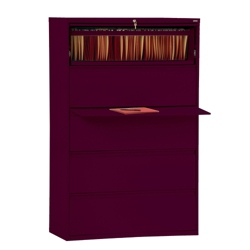 """42""""W 5 Drawer Steel Lateral File, 30091"""