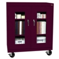"Mobile Cabinet with ClearView Doors - 36""W x 24""D, 31114"