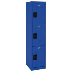 """Triple Tier Steel Locker - 15""""W, 31904"""