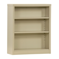 "42""H 3 Shelf Unassembled Steel Bookcase, 32046"