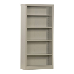 "72""H 5 Shelf Unassembled Steel Bookcase, 32048"